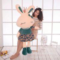 新款love兔毛绒玩具小白兔公仔兔子国旗穿裙子情侣男女孩生日礼物