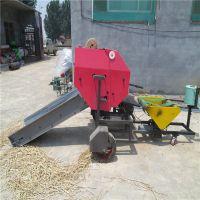 全自动打捆包膜机细节图展示 牧草秸秆粉碎储存打包机 中泰机械