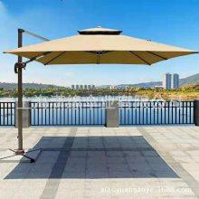 现货批发户外罗马庭院伞别墅花园遮阳伞方形侧边双层庭院太阳伞