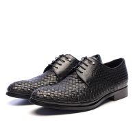 厂家直销头层牛皮织带男鞋男士商务休闲皮鞋上班族真皮正装皮鞋