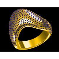 批发珐琅纯钛男戒指 食指 fenix 男款 戒指—金属饰品定制厂家