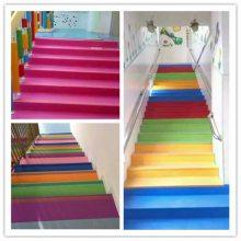 长春直销pvc地板彩色耐磨 幼儿园楼梯安全地板胶 健身房舞蹈地胶批发