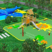 小区儿童游乐设施厂家 户外游乐整体规划设施 木质组合滑梯定制 儿童乐园攀爬网滑梯