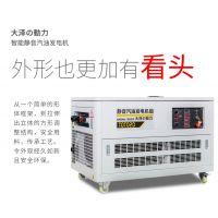 大泽动12kw电启动汽油发电机别墅用