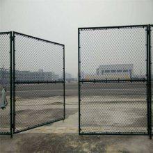 体育场围栏网 勾花围栏网 绿色金属网墙
