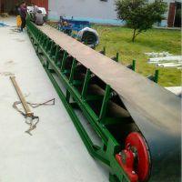 碎石料传送输送机定做 成件物品装车皮带机 移动式高低可调输送机