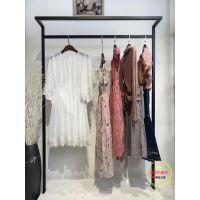 广州品牌服饰库存尾货批发熠净夏装多种面料多种款式