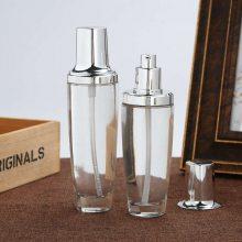 玻璃扁方香水瓶 扁方卡口精白高档香水玻璃瓶