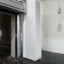 蒸汽型立式侧吹风幕机 大门侧吹蒸汽热风幕 艾尔格霖热风幕