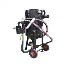 纳珀喷砂机小型 钢结构除锈翻新高压喷砂罐 移动开放式水喷沙机器包邮