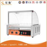厂家直销双驰商用烤香肠机304不锈钢五棍七棍十棍热狗烤肠机设备