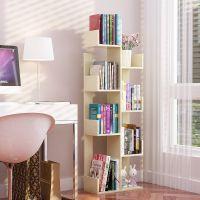 简易树形书架落地学生置物架儿童实木组合收纳小书柜简约现代