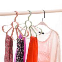 素色风领带丝巾围巾架 多功能衣架扇形腰带皮带晾晒架批发