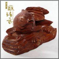 摆件W】红木雕刻工艺品 红檀鱼年年有余 乔迁商务礼品办公摆件