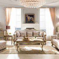 上海欧式家具厂供应布艺欧式沙发三人位组合