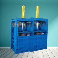 亚博国际真实吗机械 废纸箱打包机 双缸易拉罐压块机 半自动立式废纸箱打包机 纤维棉压包机 厂家