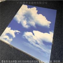 恒温泳池铝天花-蓝天白云UV喷绘铝单板加工厂家