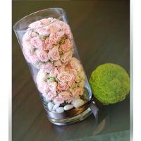 花瓶透明玻璃 富贵竹插花用圆柱直筒桌花花瓶 婚庆路引落地花瓶