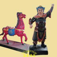 骑马将军,拉马小童树脂玻璃钢神像彩绘贴金河南亚博里面的AG真人厂直销