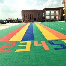 承德室外操场防滑悬浮地板幼儿园防滑地板 室外运动操场悬浮地板