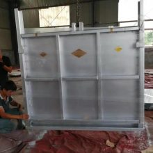 3*3米一体式渠道钢闸门质量 钢制插板闸门价格 使用寿命长 支持定制