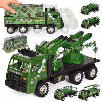外贸跨境款 儿童军事惯性塑胶车模型 可拆卸士兵坦克车 地摊玩具