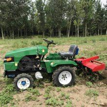 农用输出轴旋耕机/液压转向四轮拖拉机除草机/四驱小四轮开沟机