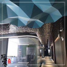 深圳音乐餐厅天花墙面装饰黄钛金镜面水波纹不锈钢板 机场水波纹