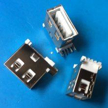 180度 A型母头_昌亿达焊线双层USB 2.0母头_前插后贴SMT