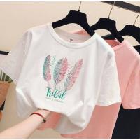 贵州5元女士T恤批发工厂亏本处理兜里货便宜纯棉短袖女装上衣条纹短袖清货