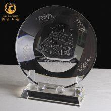 天津消防战士退役礼品,光荣退伍纪念牌,水晶盾牌定制