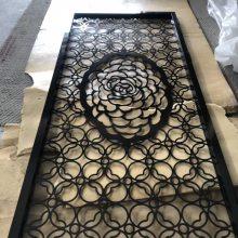 仿古铜金属做旧屏风,定制古铜不锈钢花格
