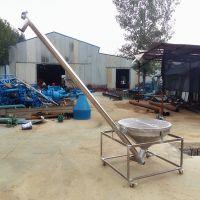 石灰粉螺旋提升机 4米长大豆提升机 不锈钢粉料盐提升机qk
