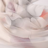 新款彩色银杏叶长丝巾定制 雪纺时尚气质名媛风披肩春夏防晒装饰围巾女批发