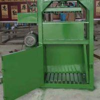 60吨立式废旧纸箱打包机 双缸易拉罐废铝半自动立式液压压块机价格