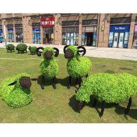 四川成都大型仿真植物造型厂家在哪里?定制假草坪绿雕 仿真蝴蝶绿雕