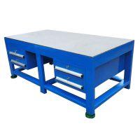 岳阳钢板实训台颜色,模具钢板工作台款式利欣工厂