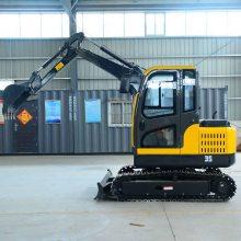 四川生产开槽挖钩机 小型驾驶式履带挖掘机