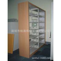 简易书架 置物架 现代简约展示架 实木+钢结构的学校简易书架