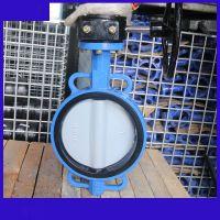 D371X-10Q/尼龙板 DN100涡轮对夹脱硫蝶阀尼龙板 垂直板式NBST品牌