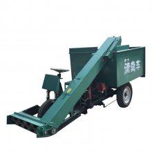 机动三轮清粪车 自走式马粪清理车 润丰 马场用自动装粪车