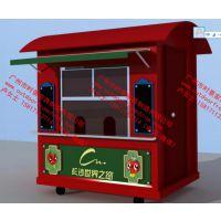 宝鸡商业街售卖亭,广场移动小吃美食售货车,步行街销售亭花车