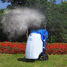 校园草场喷洒机 45L小型推车喷雾器 12V电动高压杀虫机浩阳机械