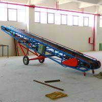 生活垃圾装卸输送机 玉米麦子入库输送机 500宽槽型散料皮带机