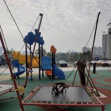 户外公园组合跳床蹦极 健身游乐设施蹦极床玩具 手摇式新款蹦极玩具价格