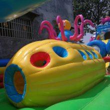 超大型充气迷宫恐龙城堡 充气攀岩高滑梯城堡 室外儿童乐园玩具蹦蹦跳床