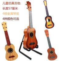 儿童吉他玩具可弹奏仿真古典早教音乐益智仿木制小吉他六美135