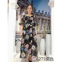 韩国高端真丝系列19新款 素莹连衣裙品牌女装折扣批发 现货可齐码