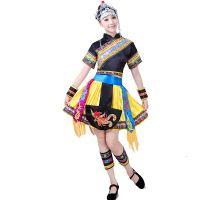 新款苗族演出服少数民族舞蹈服装畲族表演服饰广场舞套装成人女夏