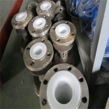 天津DN80mm不锈钢法兰连接内衬PTFE四氟金属软管